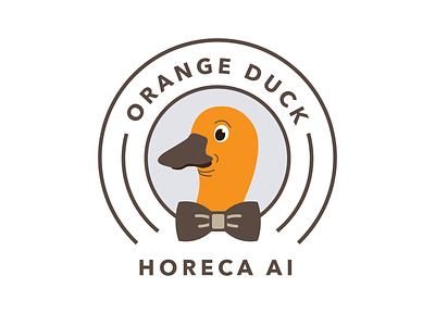 Logo Orange Duck app typography branding vector design illustration alexandru dragos metrosystems horeca ai orange duck duck orange