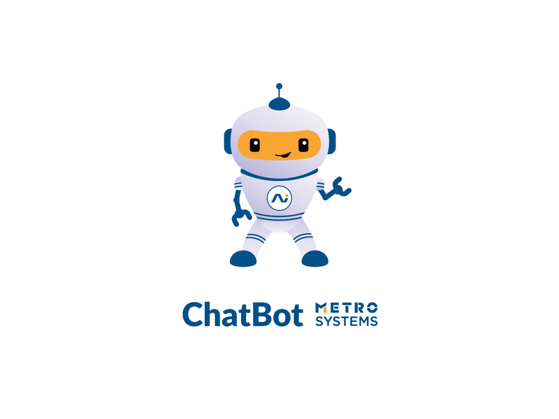 Illustration Robot V3 (Final) yellow mascot bot chatbot chat android robot metro systems branding vector design dragos alexandru flat simple icon illustration dragos logo