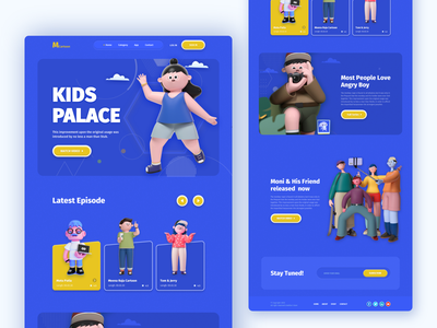 Kids: Cartoon Network Web web ui ux web ui webdesign website design website creative mike cartoon 3d character ux design ui clean