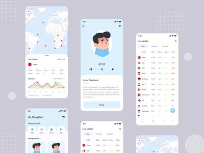 Covid 19 App interaction design