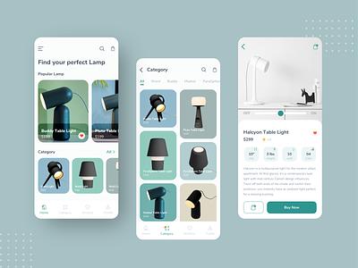 Gantri: Lamp App Design ecommerce app gantri mobile flat ios app design ux minimal clean ui app lamp