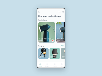 Lamp App Animation lamp design gantri app design mobile ux flat minimal clean ui aftereffects animation interaction gif ios ecommerce