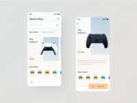 PS5 : Gaming Product Shop App ux design shopping app ecommerce app ux app design flat minimal clean ui product app shop app game gaming ps5 playstation5 sony playstation