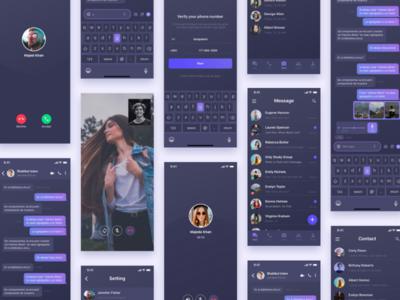 Tango Dark Chat App UI Kit