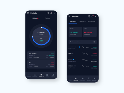 Stocks Trading App Concept card trading app stocks currency exchange money app cryptocurrency cryp dark theme dark mode dark app dark ui credit card finance app visual design payments wallet crypto finance fintech