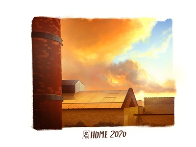 My gold home speedpainting background illustration