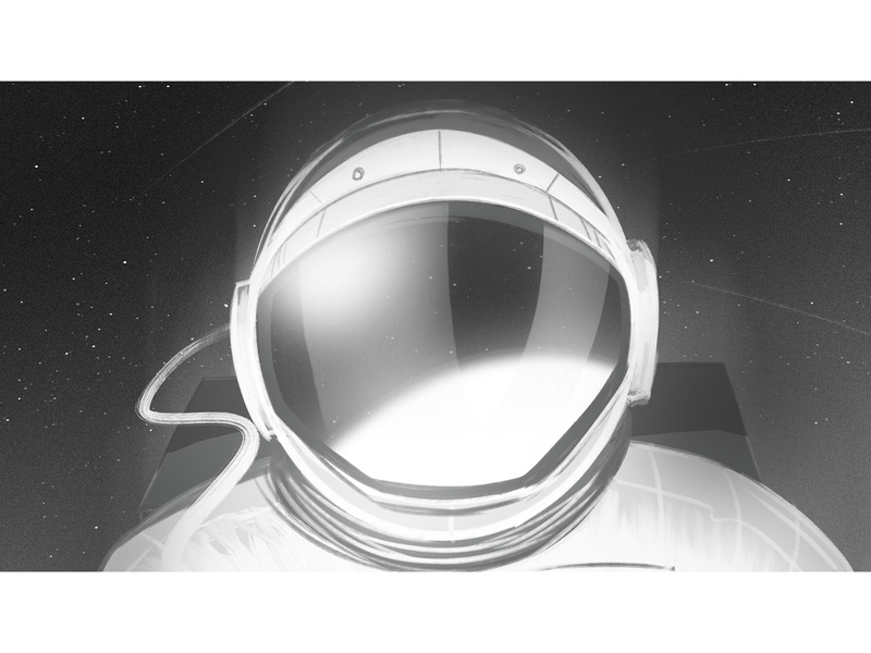I need some space III background illustration visualdevelopment planet astronaut space storyboard speedpainting
