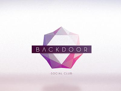Backdoor 2 design branding logo polygon logotype emblem