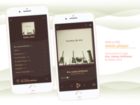 DAILY UI - #009 - Music Player