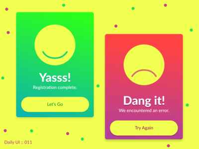DAILY UI - #011 - Flash Messages