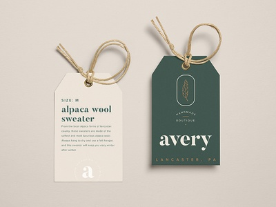 Avery Handmade Boutique Tags