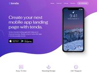 Tenda   App Landing Page