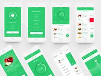 Mobile Fit app ui