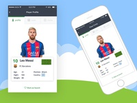 Football player profile app