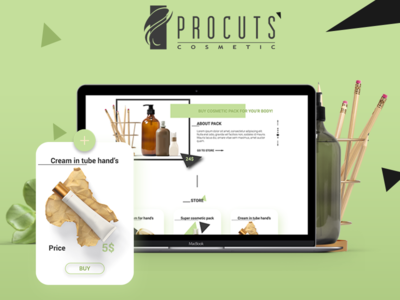 Product cosmetic website
