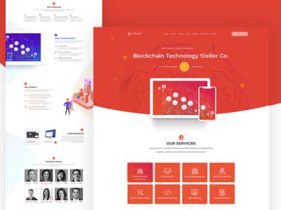 ICO Cryptocurrancy  website landing page