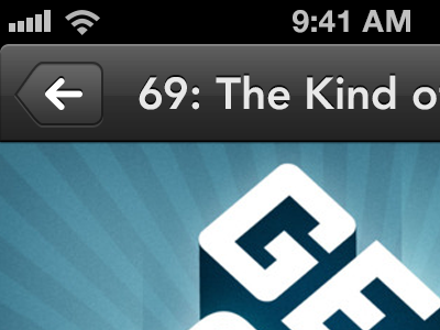 Now playing podcast app ios iphone ui player now playing dark glossy button ux design