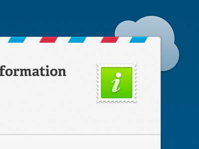Newsletter newsletter email icon stamp cloud mail information green