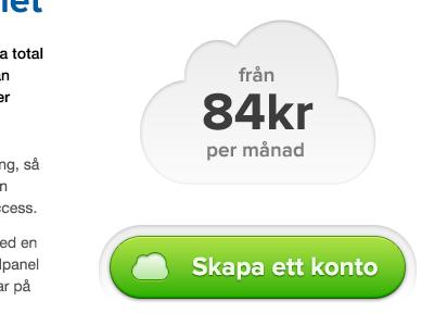 84kr account green button cloud website ui