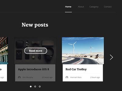 New post dark magazine ui new website web button overlay menu nav navigation