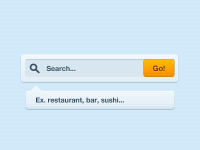 Blixt Freebie #2 - Search search blue yellow button psd download tooltip ui