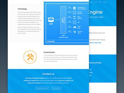 Garp Integration Engine blueprint website webapp blue ui
