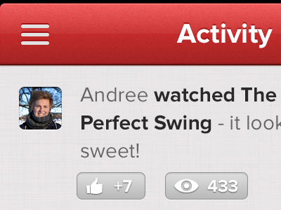 Activity iphone ui ios app button red interface user
