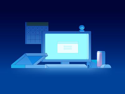 Late nights. vector illustrator illustration