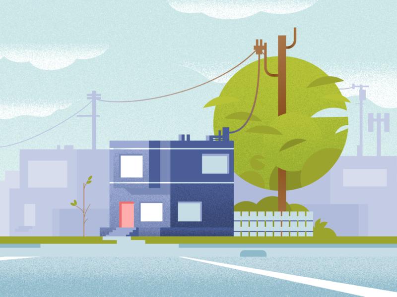 Hideout san francisco architechture home house illustrator vector illustration