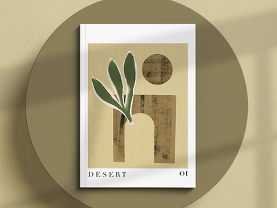 Magazine Cover minimal collage desert bookcover magazine