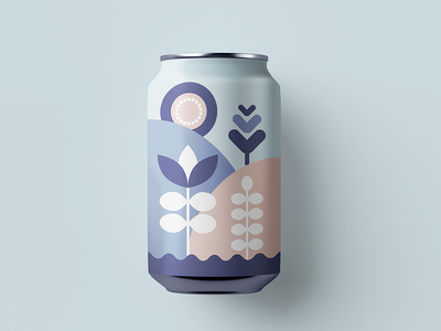 Beer Can Label vector geometric soda packagingdesign beerlabel beerart