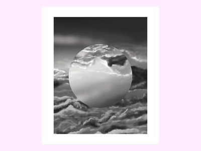 Moody Sky orb circle sky surreal scifi clouds vaporwave