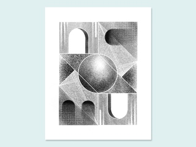 Shapes and Textures escher orb sphere archway grain geometric shapes texture noise gradient