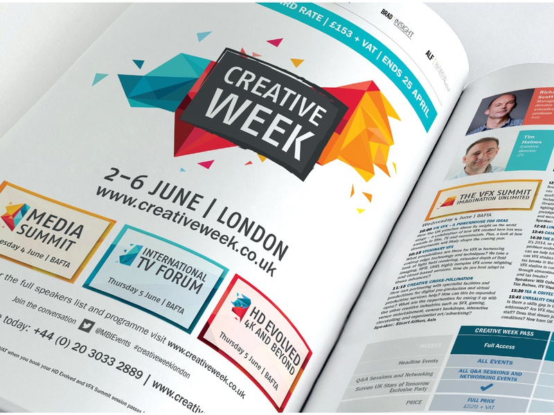 Creative Week Identity marketing collateral layout magazine abstract business visual identity branding design branding