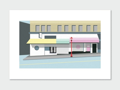 Chinatown Vancouver architecture building house geometric vector illustration street vancouver chinatown canada