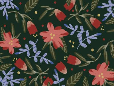 Floral Pattern botanical leaf flowers leaves floral pattern floral
