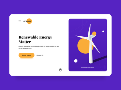 Renewable Energy Web Design ui design ui  ux design nature 3d animation 3d art ui uiux 3d modeling illustration websites website