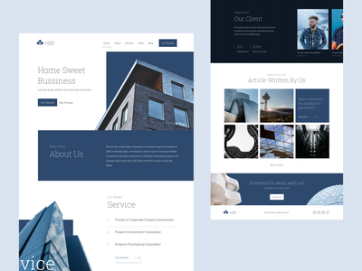 Property Investment Consultant Website uiux ui ui design landing page investment property architecture web design web websites website design website