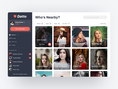 Dating Web Apps ui design uiuxdesign uiux ui website design trend clean dating tinder web app design web apps web app web design website web