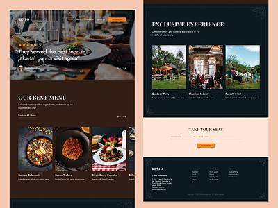 RESTO - Restaurant Website Design food delivery food dark dark mode restaurants restaurant app restaurant web website design websites website