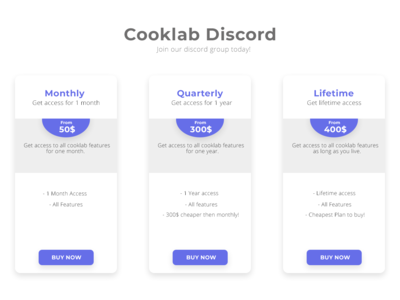 Redesign Cooklab subscriptions page