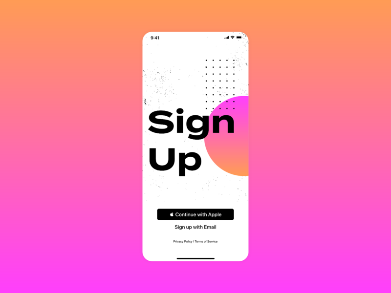 Daily Ui #001 - Sign Up dailui web app typography ux ui design