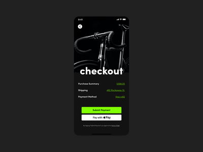 Daily Ui #002 - Credit Card Checkout minimal ux ui typography design dailui app