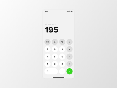 Daily Ui #004 - Calculator flat minimal app ui typography design dailui