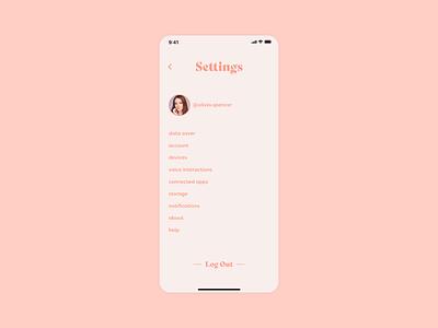 Daily Ui #007 - Settings flat ui minimal app design dailui