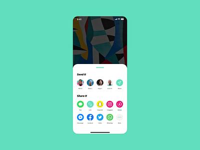 Daily Ui #010 - Social Share flat app ui minimal design dailui