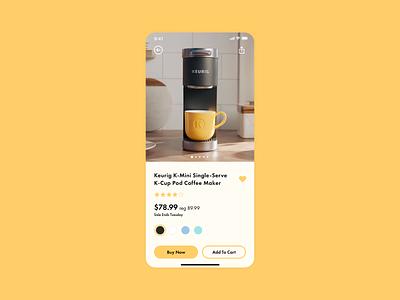 Daily Ui #012 - E-Commerce Shop Single Item flat app ui minimal design dailui