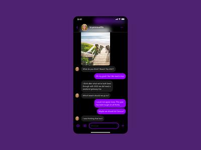 Daily Ui #013 - Direct Messaging flat app ui minimal design dailui