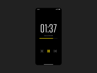 Daily Ui #014 - Countdown Timer typography flat app ui minimal design dailui