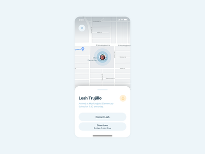 Daily Ui #020 - Location Tracker ux typography flat app ui minimal design dailui